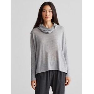 Eileen Fisher Boxy Merino Wool Cowl Neck Sweater